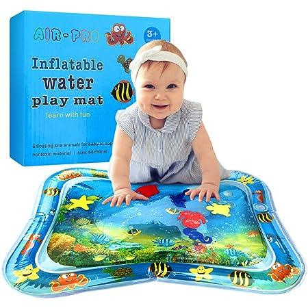 Tomaibaby B/éb/é Tapis de Jeu deau PVC Gonflable Infantile Enfant en Bas /Âge Requin Tapis de Jeu pour Les Tout-Petits Enfants