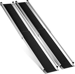 ORFORD Telescopic Wheelchair Ramp 5FT, Non Skid Utility Mobility Access Ramp for Home Steps Stairs Doorways Scooter with Carrying Bag