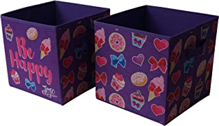 JoJo Siwa Collapsible Storage Cubes, (Pack of 2), Purple