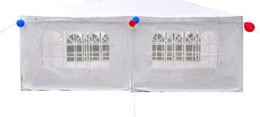 B07KF8NGCN✅GOJOOASIS 10×20 Outdoor Gazebo Wedding Party Tent w/ 6 Removable Walls