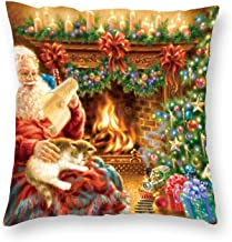 Decorative Pillow Covers Christmas Dreams Throw Pillow Case Cushion Cover Home Office Decor,Square 16 X 16 Inches