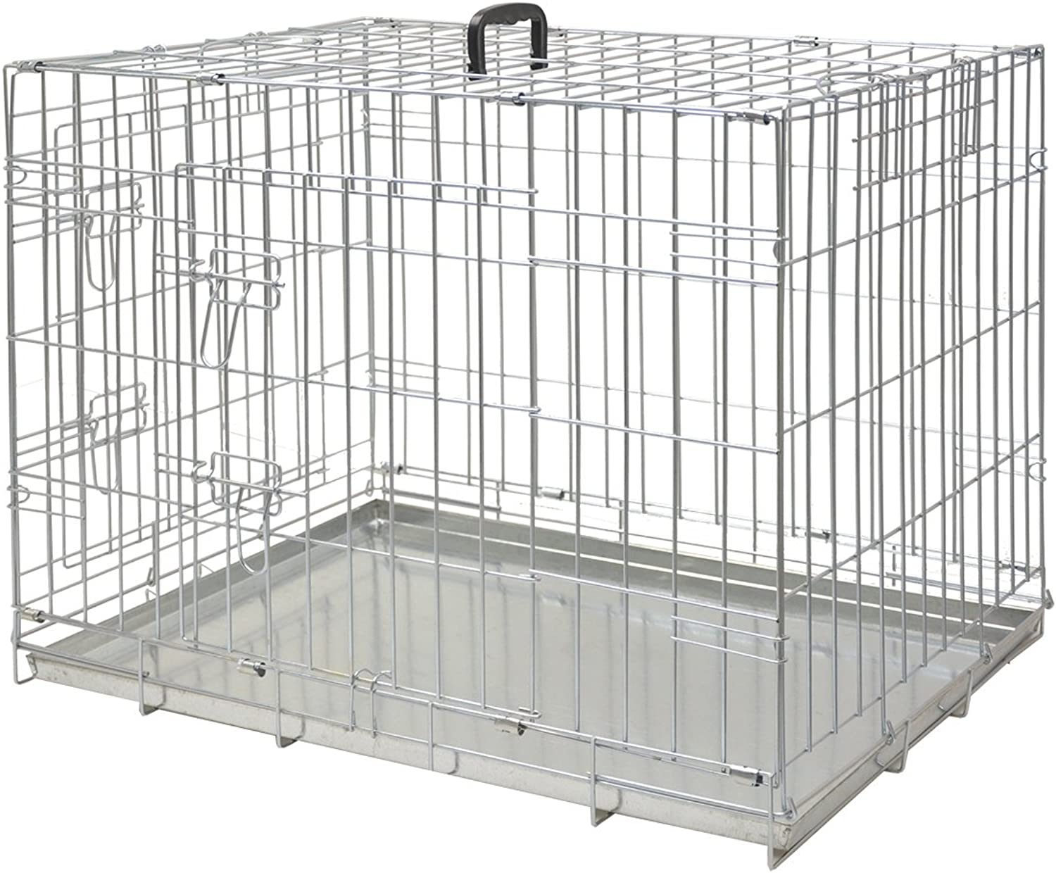 Nobby Zinc Plated Transport Cage Foldable, 78 x 55 x 62 cm