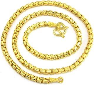 Bangkok Bazaar Gorgeous Diamond-Cut Box Link Chain 20