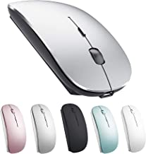 Wireless Mouse for MacBook pro/Air Mac Laptop Windows Computer Gray Black