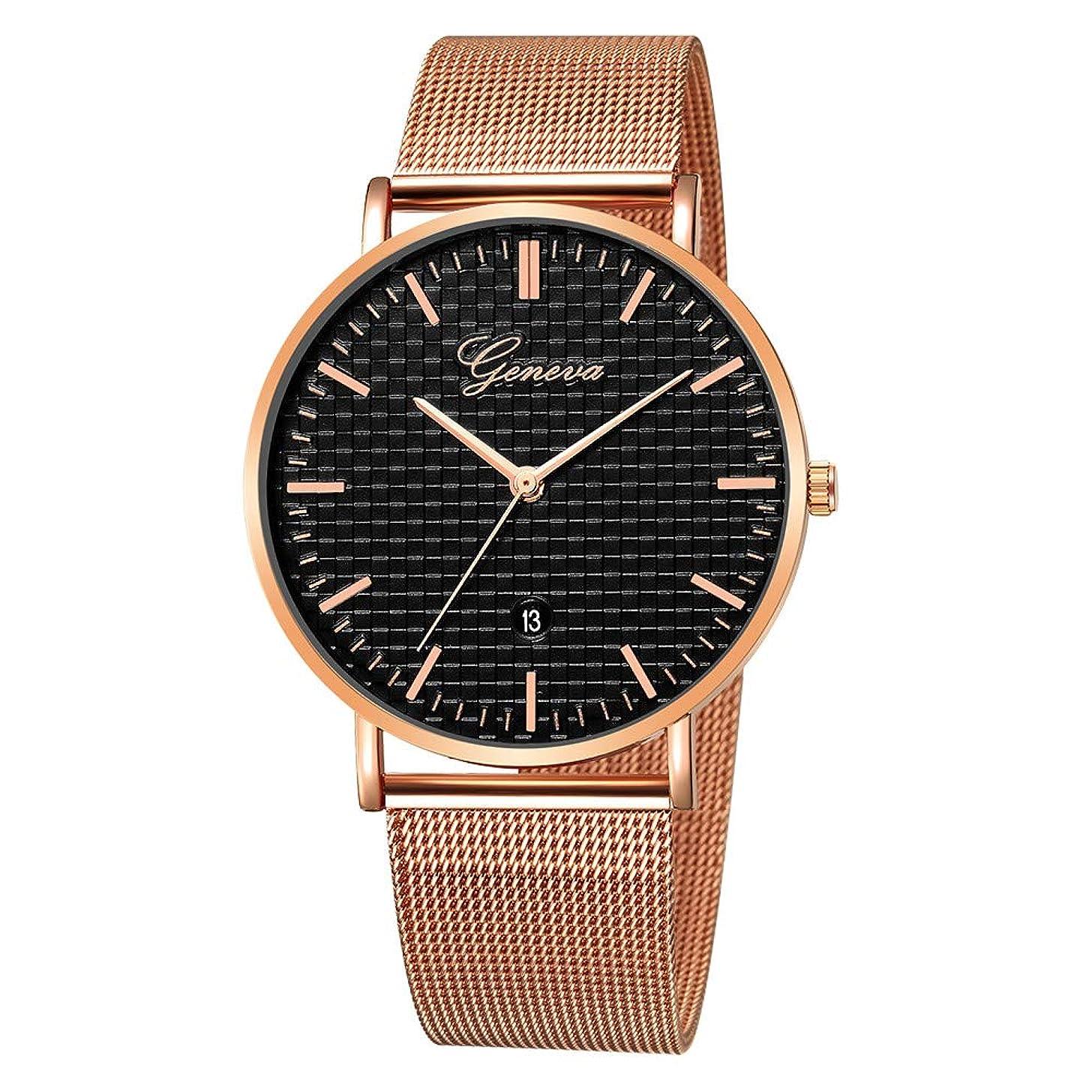 2019 Summer Deals ! Luxury Fashion Stainless Steel Mens Glass Quartz Analog Watches with Calendar Wrist Watch for Men Under 10