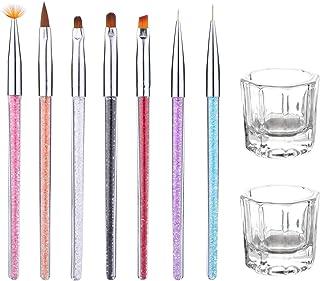 Juego de pinceles de uñas y esmalte de uñas profesional, diseño de esmalte de uñas, cepillo para polvo de pintura de gel UV