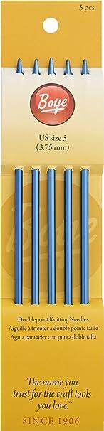 """6307-8 Boye Double Point Aluminum Knitting Needles 7/""""-Size 8//5mm"""