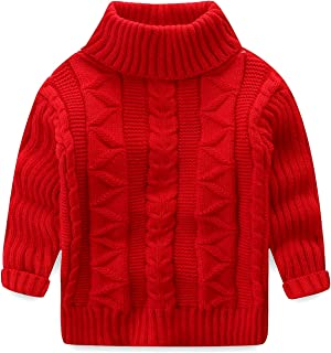 Unisex Toddler Baby Boys Girls Knit Sweater Cute Christmas Cartoon Knit Tops RYGHEWE Childrens Pullover Sweaters