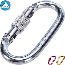 Climbing Carabiner - UIAA & CE Rated Carabiner Clip | Heavy Duty Locking Carabiner for Climbing, Rigging, Ropes, Hammocks, Camping
