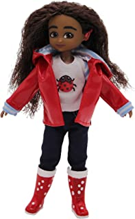 Lottie Doll LT082-CO Wildlife Photographer Doll Mia | Dolls For Girls and Boys | 7 Inch Doll With Brown, Wavy Hair, Brown Eyes and Cochlear Implant