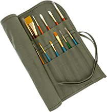 US Art Supply Deluxe Canvas Art Brush Roll-Up Bag
