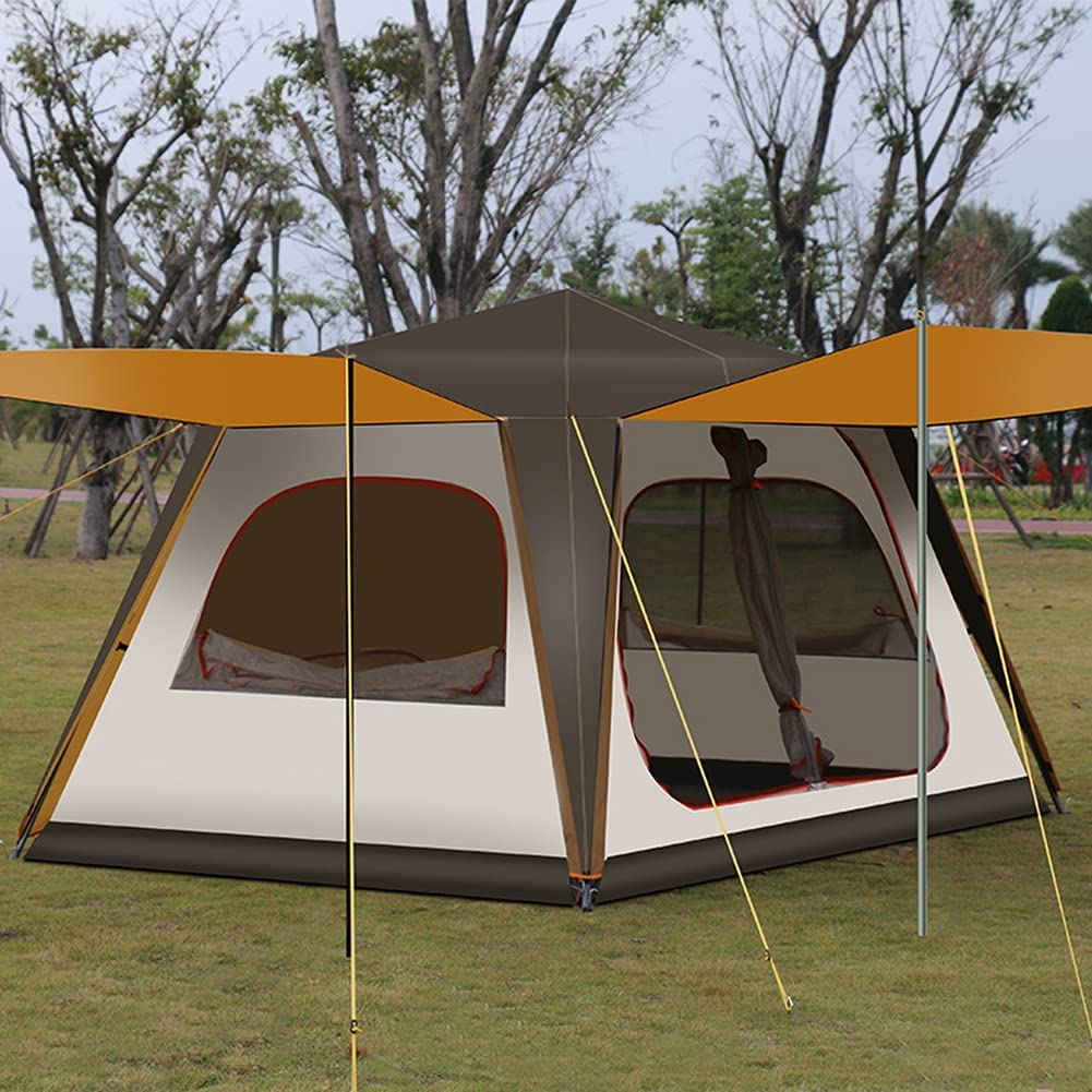 1 year warranty JTYX Pop Up Tent Family Backpack Person Instant 5-8 price Camping