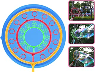 Sotodik Big Bubble Wand Outdoor Toys Bubble Making Toys for All Age People Bubbles Party Favors Supplies with Large Plate ...