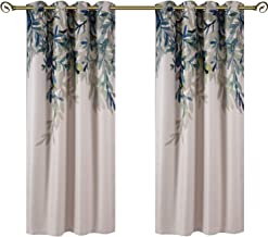 Taisier Home Weeping Leaves Digital Printing Curtains 2 Panels Set 84 Inches Length for Living Room Dining Room Kids Room Fashion Grommet to Curtains