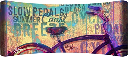 Next Innovations 48 X 19 Hd Curved Wall Art Beach Bicycle Home Decor Home Kitchen Amazon Com