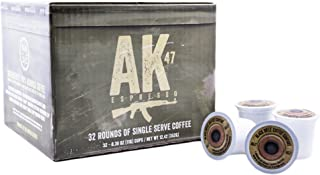 Black Rifle Coffee Company AK-47 Coffee Rounds for Single Serve Brewing Machines (32 Count) Medium Roast Coffee Pods Cups