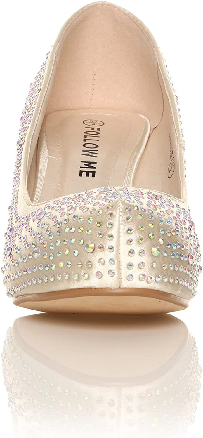 CORE COLLECTION New Women Ladies Diamante MID Heels Wedding Party Prom Evening Platform Shoes Size 3-8