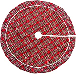 WWLDPTTCD100cm Rouge Arbre De Noël Jupe Arbre De Noël Tapis Cadeau Sac De Base Joyeux Noël Décorations pour La Maison