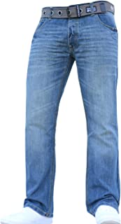 Crosshatch New Mens Boys Straight Leg Smart Fashion Jeans Trousers in All Waist & Sizes