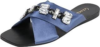 Catwalk Blue Slip-on Sandals