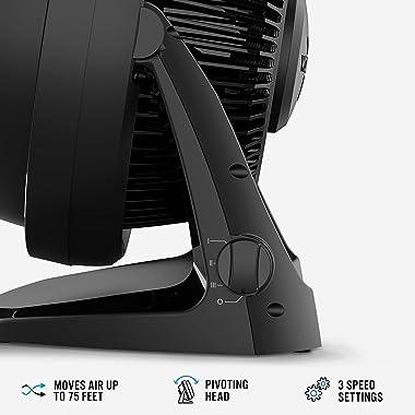Vornado 62 Whole Room Air Circulator Fan with 3 Speeds, Black