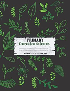 Composition Notebook: Green Botanical Tropical Leaves Split Philodendron Areca Palm Fancy-leafed caladium Bird of Paradise...