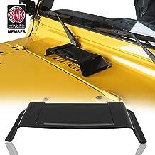 u-Box Hood Scoop Heater Air Vent Cowl Cover Black for 97-18 Jeep TJ JK Wrangler