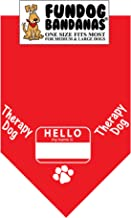 Hello My Name is.THERAPY DOG Bandana