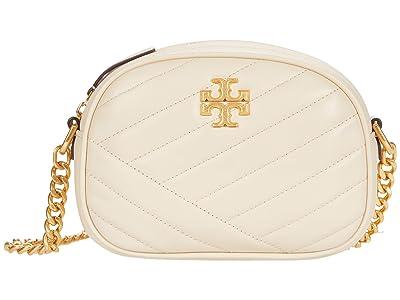 Tory Burch Kira Chevron Small Camera Bag (New Cream/Rolled Brass) Handbags