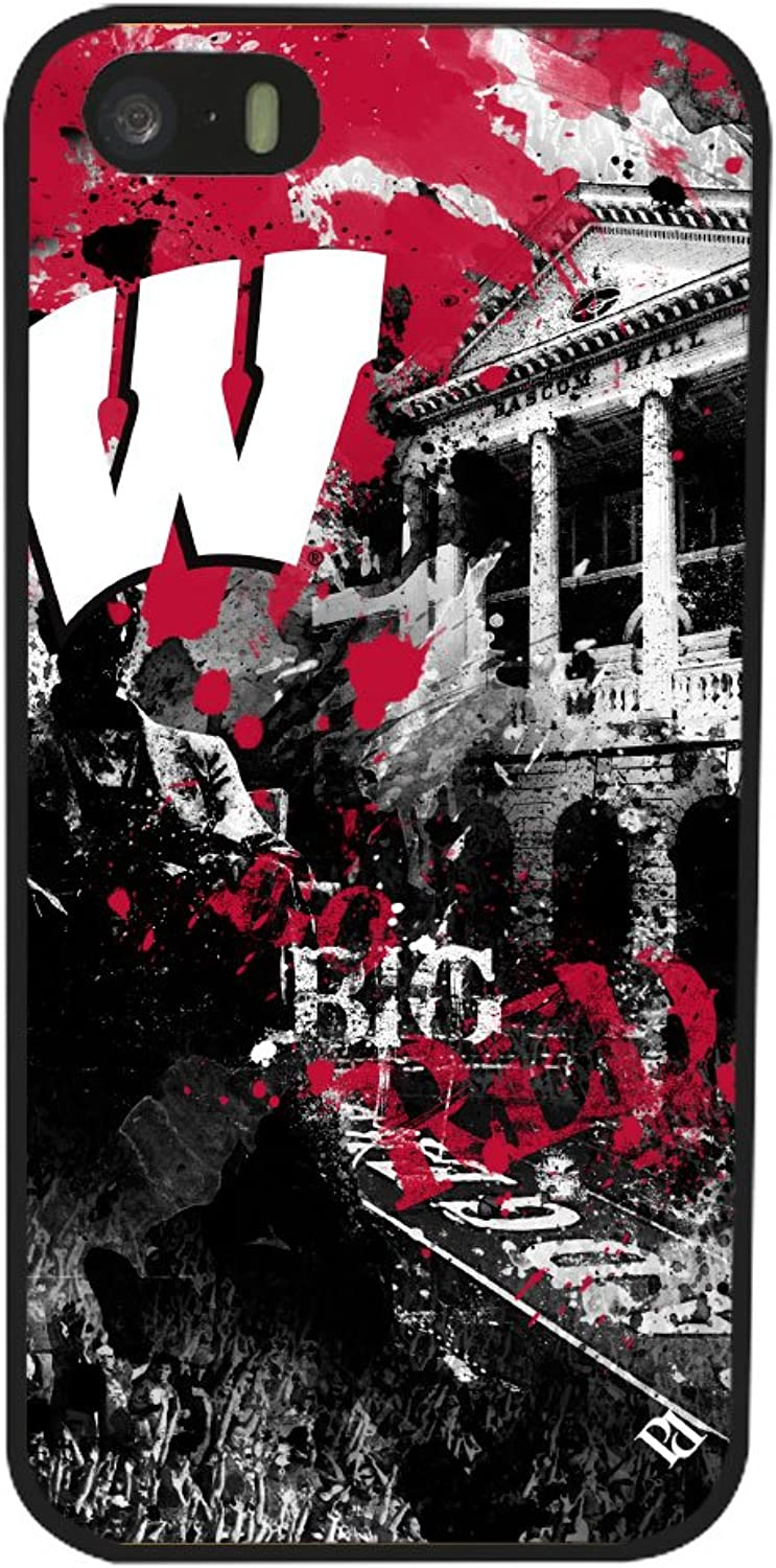 NCAA Wisconsin Badgers Paulson Designs Spirit Case for iPhone 5 5s, Black, Medium