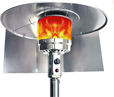 Trmbacy Patio Heater Foldable Reflector Shield,for Natural Gas and Propane Table top Patio Heater,Heat lamp Outdoor.