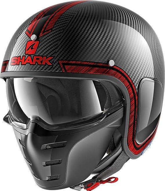 Shark Motorradhelm S Drak Carbon Vinta Dus Schwarz Grau Xs
