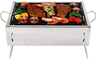 Wyhgry Charcoal Bbq Stand,Stainless Steel Barbecue Grill with Stand,Foldable and Portable Outdoor Charcoal Bbq,Suitable fo...