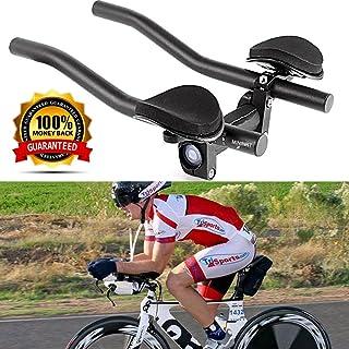 VAQM Bike Aero Bars Cycling Aero Bars Bike Rest Handlebar Bicycle TT Handlebar Bike Tri Bars Mountain Bike Road Bike