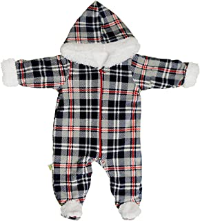 Baby Shoora fur baby bodysuit printed for boys Gray-3-6Month