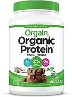 Orgain Organic Plant Protein Powder, Chocolate, 2.03 lbs