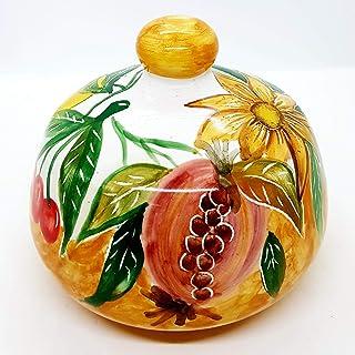 Nascondispugna Portaspugna Linea Frutti Misti per Cucina e Bagno Handmade Le Ceramiche del Castello Made in Italy