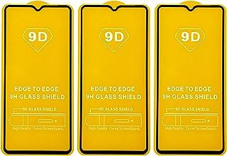 شاشة حماية زجاجية بإطار اسود لموبايل اوبو ريلمي X2 برو من دراجون، 3 قطع - اسود
