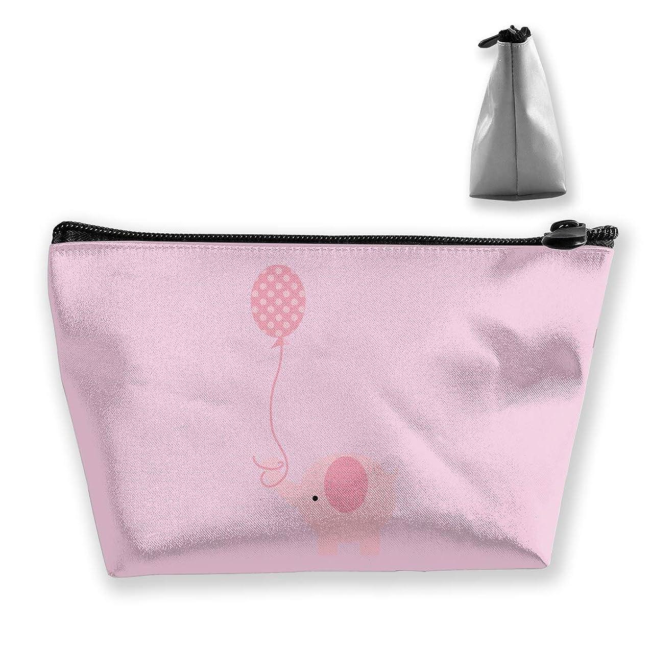 政権デッキ燃やすゾウの赤ちゃん ペンケース文房具バッグ大容量ペンケース化粧品袋収納袋男の子と女の子多機能浴室シャワーバッグ旅行ポータブルストレージバッグ
