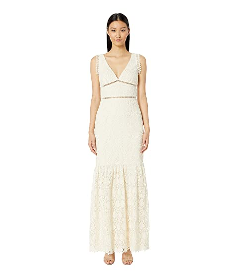 ML Monique Lhuillier Lace Gown w  Bodice Trim at Luxury.Zappos.com 1aab4794c