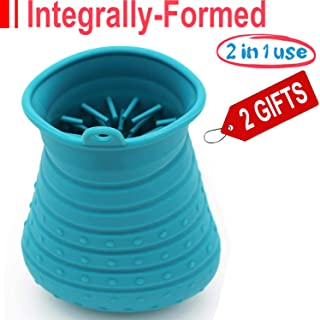 Portable Dog paw Cleaner, Pet Foot Washer, Paw Cleaner Cup with Massage Function,Integrally-Formed, Dual-use Paw Cleaner, Comfortable Silicone Bristles for Dogs and Cats Grooming with Muddy Paw.…