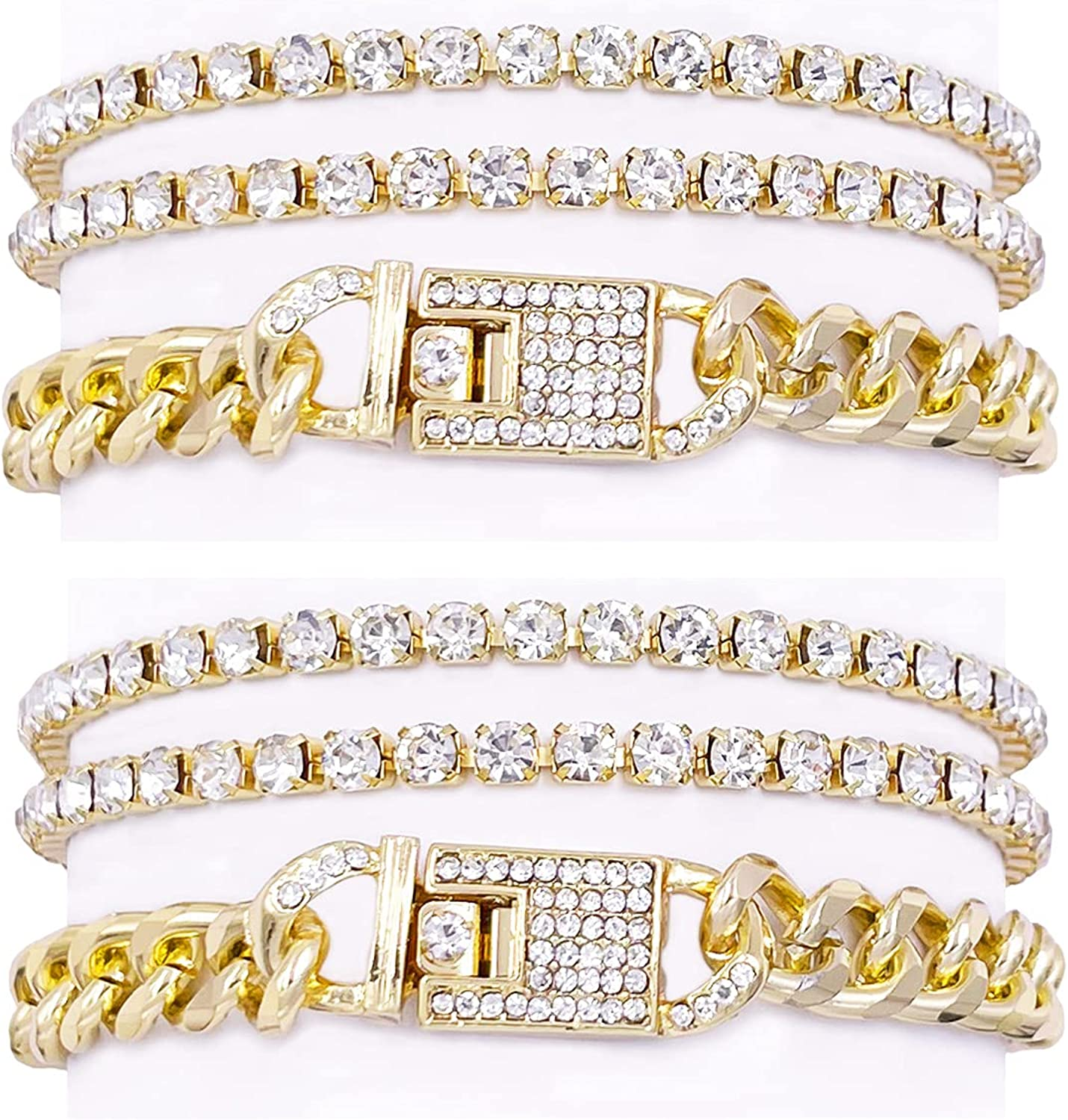 Nanafast Cuban Chain Max 47% OFF Anklet for Rhinestone Opening large release sale Out Filled Women Iced