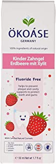 Lovesprings OKOASE 100% Natural Organic Fluoride FREE Strawberry Flavour Kids Toothpaste (6-24 months old), 50 Grams