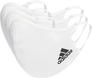 Adidas Face Cover Small, White (Pack of 3)