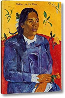 Vahine No Te Tiare Also Known as Woman with a Flower by Paul Gauguin - 12