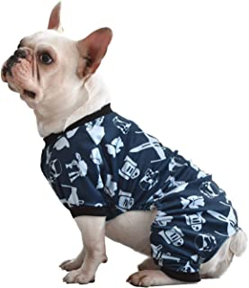 CuteBone Soft Puppy Pajamas Cute Dog Pjs Jumpsuit Pet Clothes Apparel