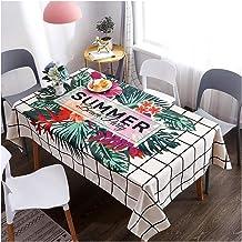 GUOCU Mantel de Mesa Impermeable Antimanchas Fáciles de Limpiar Espesar Algodón Lino Decorativo Mantel Rectangular Cocina Comedor Fiesta Floral 120 * 160