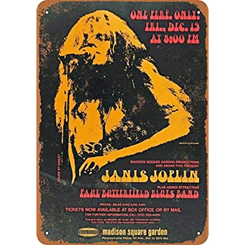 Shimeier Janis Joplin at Madison Square Garden Retro Vintage Tin Sign  Coffee House Business Dining Room Pub Beer 20 cm x 30 cm: Amazon.co.uk:  Kitchen & Home