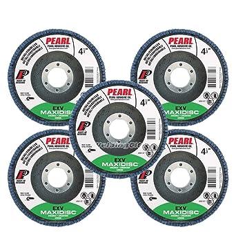 """Details about  /5pcs Pearl MAX4580 4-1//2/"""" 7//8/"""" Aluminum Oxide Type 27 MAXIDISC Flap Disc 80 Grit"""