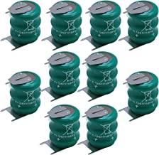 10x Varta 3/V80H 3 Pin 3.6V 80mAh NiMH Battery 55608303059 For circuit boards, memory safeguard, Backup Power, measuring equipment, real time clocks, mobile lights, lighting, industrial timepieces